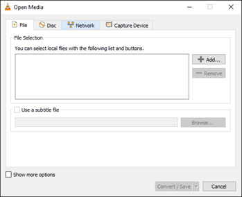 video file selection